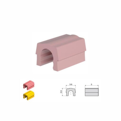 Ροζ συγκρατητικά κλιπ - μαλακή συγκράτηση 1,2kg