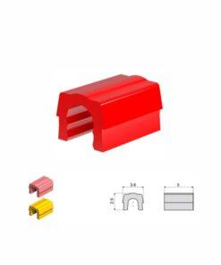 Κόκκινα συγκρατητικά κλιπ - πολύ μαλακή συγκράτηση 0,6kg